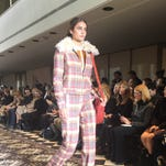Tory Burch's fall/winter collection combines a street look with equestrian details.
