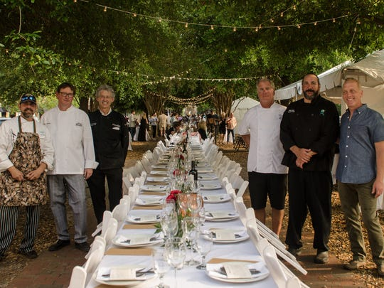 From left, Pensacola Celebrity Chefs Irv Miller of