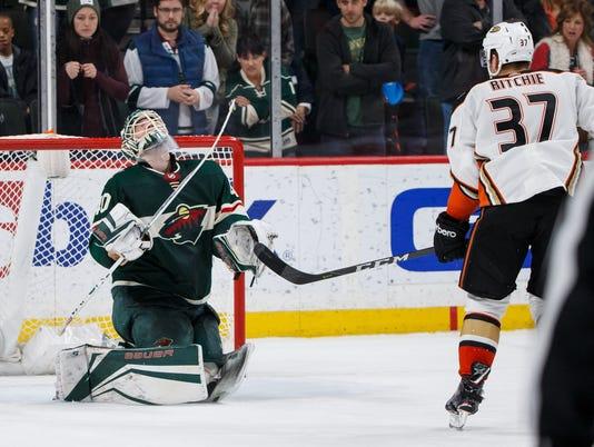 USP NHL: ANAHEIM DUCKS AT MINNESOTA WILD S HKN MIN ANA USA MN