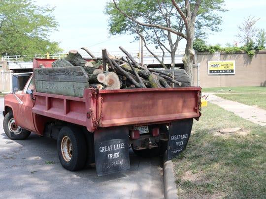 Numerous city-owned trees in the boulevard between Madison Street and the Ottawa County Courthouse were cut down this week, leading to a heated discussion at Port Clinton City Council.