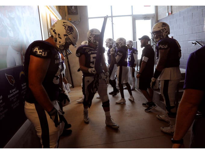 Members of the Abilene Christian University Wildcats