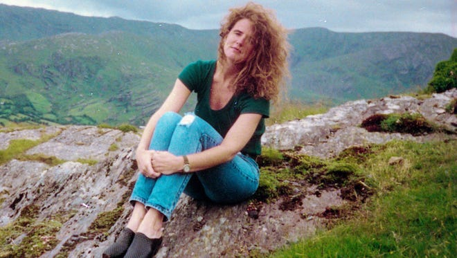 A picture of Anne Marie Fahey on vacation in Ireland in 1994 while visiting with her brother Brian Fahey.