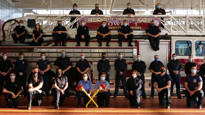The state Call/Volunteer Firefighter Recruit Training program graduated 33 firefighters Wednesday night, Nov. 4, including three from Wareham Fire, five from Mattapoisett Fire, and one from Marion Fire.