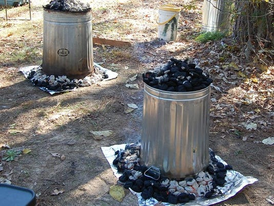 Turkeys cooking photo