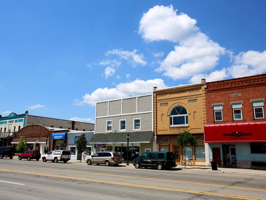 Downtown Kalkaska business is seen on Tuesday, August