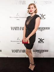 Actor Emily Althaus from the HBO series Orange is the New Black is seen on the black carpet at the Vanity Fair Derby party at 21c Museum Hotel. May 6, 2016