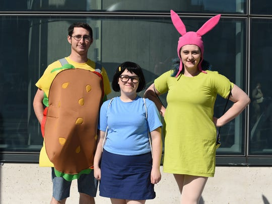 "Fans dressed as characters on ""Bob's Burgers."""