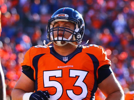 Former Iowa and current Denver Broncos center James Ferentz will appear in this Sunday's Super Bowl.