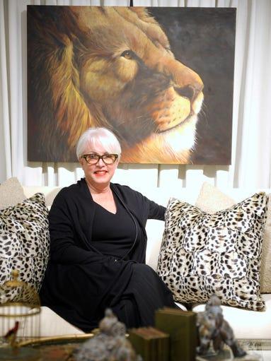 Designer Phyllis Whitehead of Birmingham poses in her