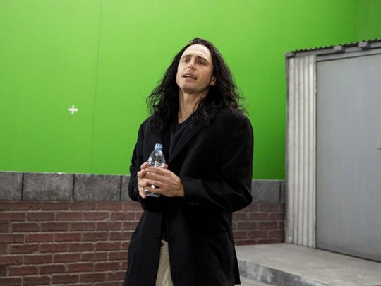 "James Franco plays an inept filmmaker and actor who is making a mess called ""The Room"" in the film-within-a-film comedy ""The Disaster Artist,"" opening Friday."