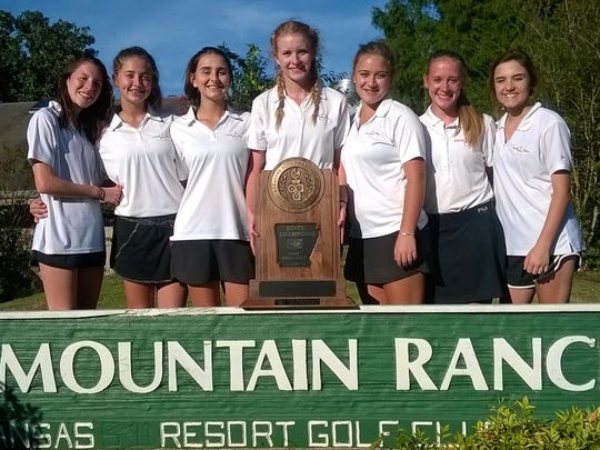 The Lead Hill Lady Tigers captured the school's first state championship in any sport when they won the Class 1A Girls' State golf tournament on Monday at Mountain Ranch Golf Course in Fairfield Bay.