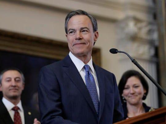 Texas Speaker of the House Joe Straus, R-San Antonio,