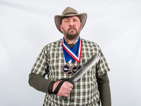 Dwayne Unger, of New Oxford, is a professional BladeSports