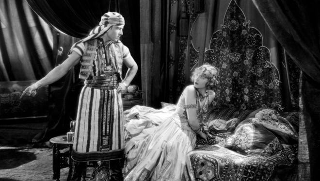 """""""Son Of The Sheik"""" stars Rudolph Valentino as both The Sheik and the Sheik's son in this silent film about love and revenge."""