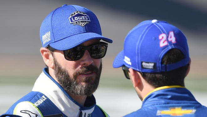 Jimmie Johnson is hoping warmer temperatures Sunday will lead to better racing.