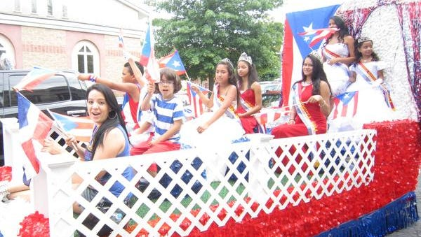 A Puerto Rican float rolls through Haverstraw during the United Latin Parade on Aug. 3.