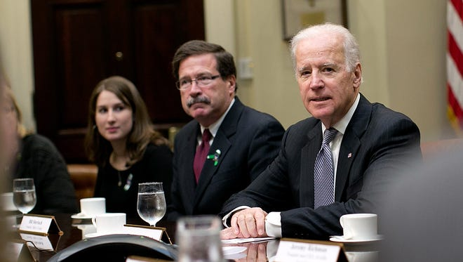 Vice President Biden leads a meeting on extending access to mental health care at the White House.