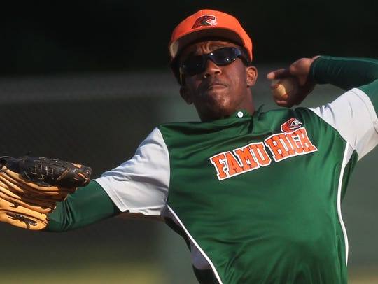 FAMU DRS sophomore pitcher Brian Green struck out 16