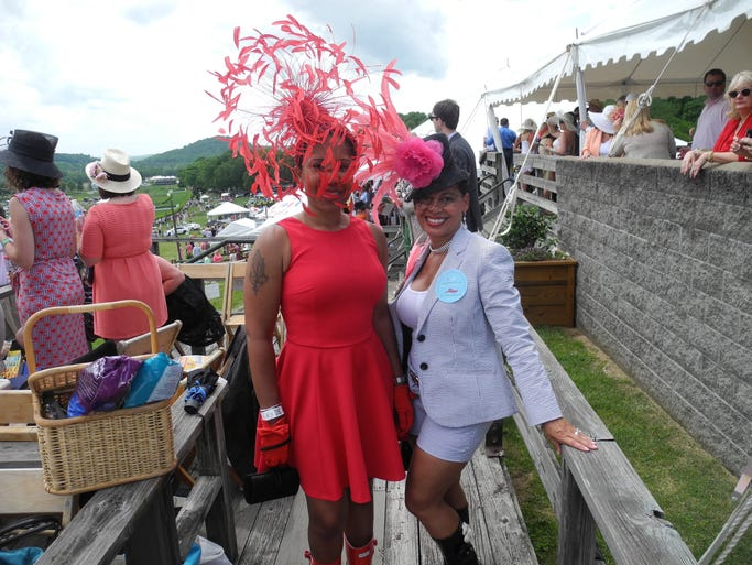 Memorie White and Joan Fleming at the 73rd running of the Iroquois Steeplechase at Percy Warner Park.