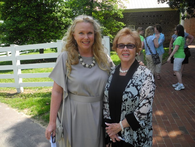 2014 Spring Outing co-chairs Judith Bracken, left, and Susan James at the 2014 Ladies' Hermitage Association Spring Outing, a benefit for The Hermitage, Home of President Andrew Jackson, held on the front lawn of The Hermitage.