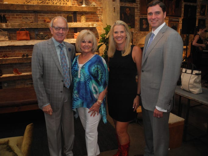 Patron Party Hosts Jere and Linda Ervin, left, and Suzanne and Grant Smothers at the 2014 TPAC Gala Patron Party, held at Peter Nappi.