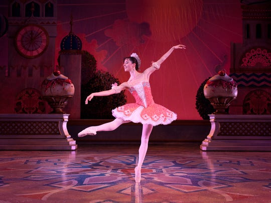 """Valerie Harmon gets in step in the Milwaukee Ballet's 2015 production of """"The Nutcracker."""""""