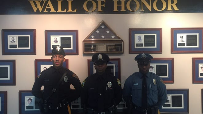 Kenrick Morrissey Jr., of the Penns Grove Police Department, Jerome Scurry Jr., of the Virginia Beach Police Department, and Rhameir D. Edwards of the Wildwood Police Department, members of Bridgeton High School's Class of 2012, recently fulfilled their childhood dreams of becoming law enforcement officers.