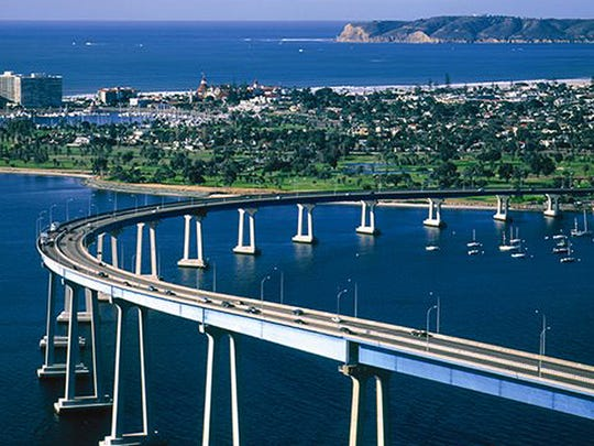 The Bike the Bay event Aug. 23 is the only time bicyclists are allowed to ride across the iconic San Diego-Coronado Bridge each year. San Diego offers a variety of running and bicycling events during Arizona's hot summer.