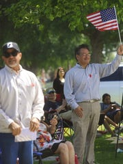 Veterans and community members gathered at Visalia's