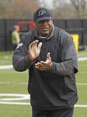 Purdue defensive tackles coach Rubin Carter will not