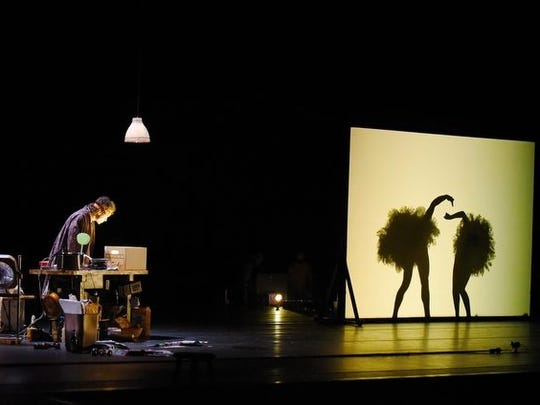 """Pilobolus' new work """"Wednesday Morning, 11:45"""" uses shadows to create all sorts of animals."""
