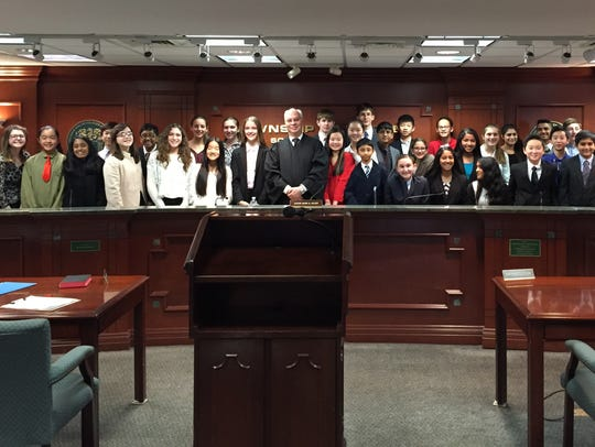 Warren Middle School students participated in a mock