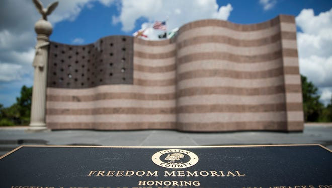 The Freedom Memorial at Fred W. Coyle Freedom Park is scheduled to be completed and open to the public this Friday.