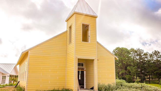 A chapel on the 50 acres of Refuge Ranch in Bastrop County, a long-term residential treatment center for girls who have been victimized by the child sex-trafficking trade in Texas.