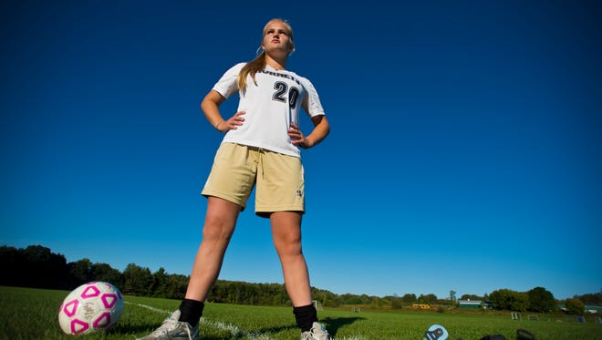 They said Megan Macfarlane would never play soccer again. After her knee was torn apart during a game, she under went surgeries and physical therapy and, a year and a half later, walked back out on the field with a CTI brace strapped to her leg and a determination to never let her injury beat her.
