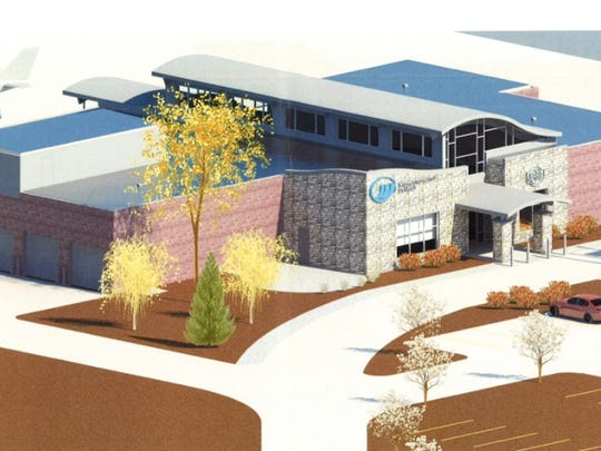 A rendering of the Winnebago County Board's plans for a new airport terminal at Wittman Regional Airport.
