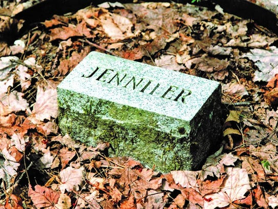 A simple one-word stone marks this grave in what's now the Great Smoky Mountains National Park.