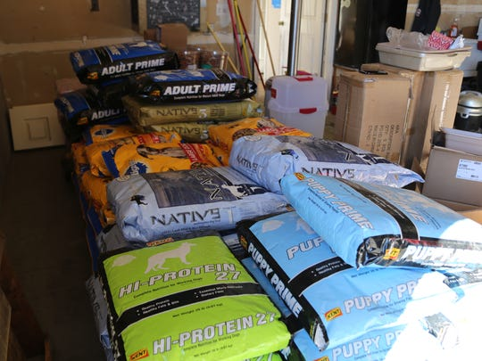 Because Animals Matter gathers pet food for its Kibbles on Wheels program that delivers pet food to owners' homes.