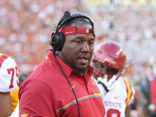 Iowa State defensive line coach Eli Rasheed