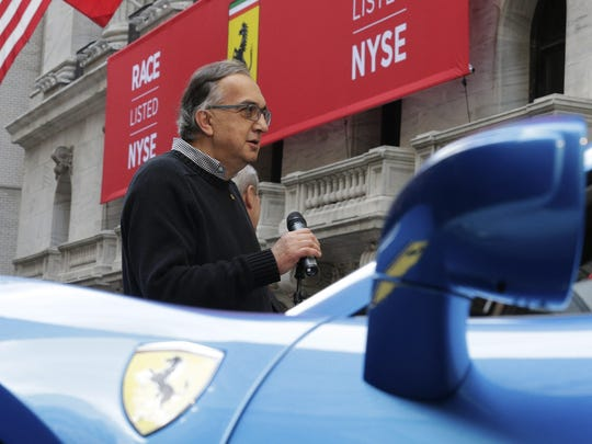 Sergio Marchionne, CEO of Fiat Chrysler Automobiles, outside the New York Stock Exchange in October 2015.