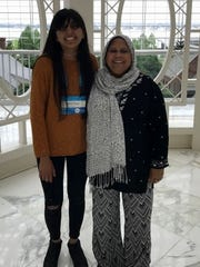 Sameera Hussain and a family member at the 2017 Scripps