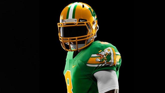 """Oregon's new uniforms commemorate """"The Pick."""""""
