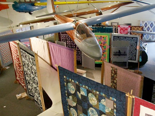 The Piecemakers Quilt Guild of Elmira chose the National Soaring Museum as the location of their quilt show, which continues Saturday and Sunday.
