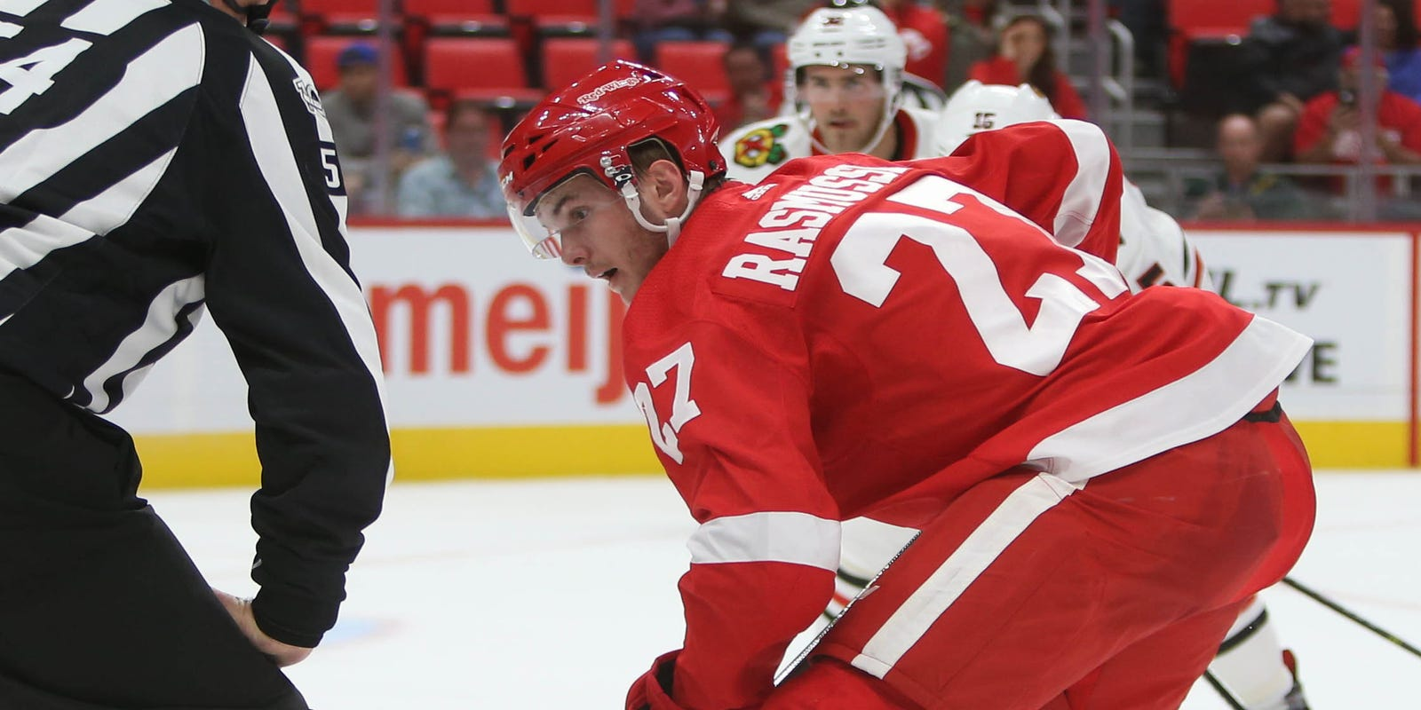 Detroit Red Wings' Michael Rasmussen, Dennis Cholowski earn rave reviews