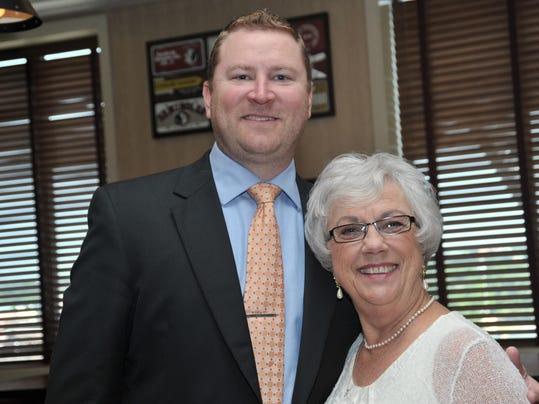 Pg_19_ZeroBirthdayBash_Scott Harrell with Home Instead Senior Care and Linda