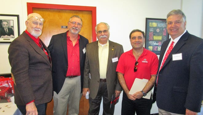 Ken McManis, Jim Bowie, Kam Movassaghi, G.H. Massihi and Mark Zappi, Dean for the College of Engineering