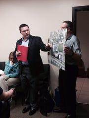 Kwik Trip's Troy Mleziva, left, makes a presentation