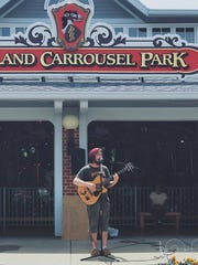 Marshall Elgin performed downtown Mansfield last summer,