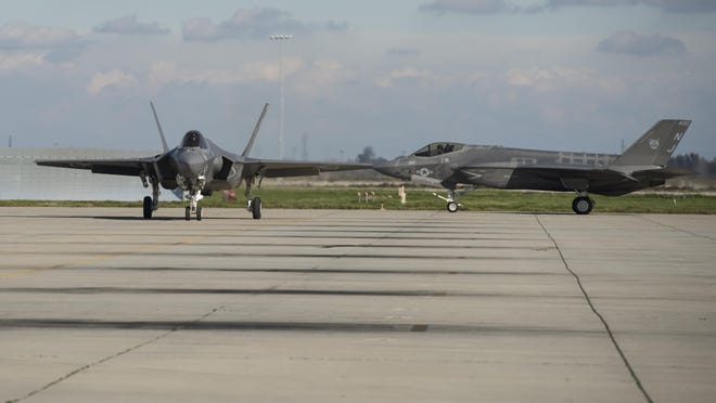 Naval Air Station Lemoore celebrates the arrival of four new Lockheed-Martin F-35C Lightning II on Wednesday, January 25, 2017.