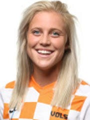 KNOXVILLE, TN - AUGUST 05, 2016 - Defender Kiah Allen #19 of the Tennessee Volunteers 2016 Soccer Headshots in Knoxville, TN. Photo By Craig Bisacre/Tennessee Athletics
